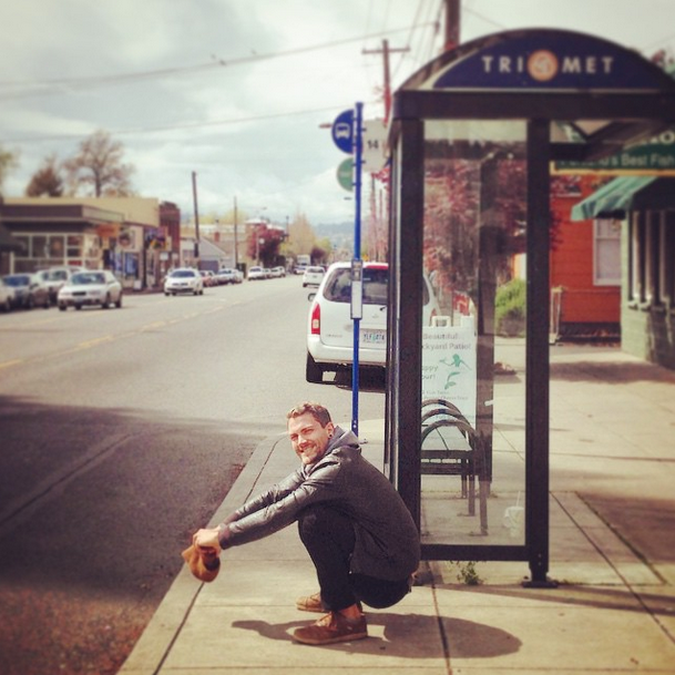 Jonathan Mead Squat Bus Stop