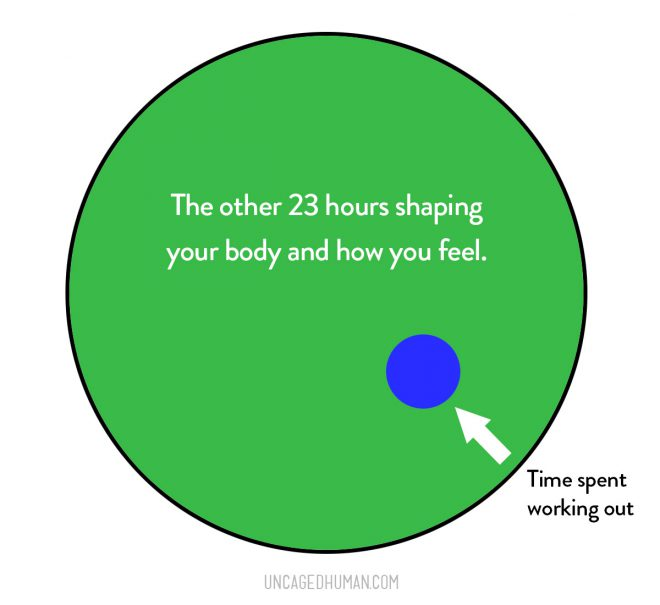 Graph of time spent working out vs the rest of your day